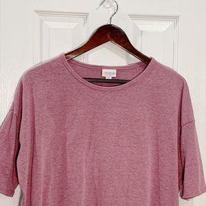 LuLaRoe Tops - LuLaRoe Pink Short Sleeve Boxy T-shirt Sz XS